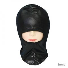 アダルトグッズ、メタリックブラックマスク 鼻口穴タイプの見本画像2