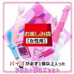 アダルトグッズ、女性用 お楽しみ袋 【バイブを含む5点セット】の見本画像1