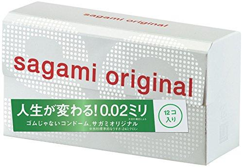 12個入/サガミオリジナル002究極のうすさ0.02ミリを実現した「ゴムじゃないコンドーム。サガミオリジナル002」です。<br /> スタンダードタイプで、たっぷり潤滑ゼリー付き。