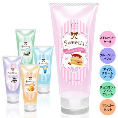 CC lotion Sweetia 100ml 5種のスイーツの味と香りのローション!<br /> 安心の日本製