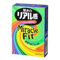 ミラクルフィット(5個入)驚きのリアル感を体感せよ!<br /> リアル形状コンドーム最新作