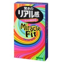 ミラクルフィット(10個入)驚きのリアル感を体感せよ!<br /> リアル形状コンドーム最新作