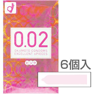 6個入/うすさ均一0.02EXピンクうすさ0.02mmのごくうすコンドーム!<br /> かわいいピンクで女性に人気です!