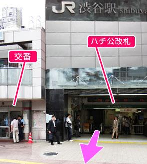 JR渋谷駅・ハチ公改札